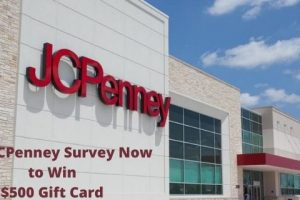 Take JCPenney Survey Now to Win $500 Gift Card